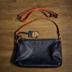 VALENTINA Pebbled Leather Crossbody/Shoulder Bag
